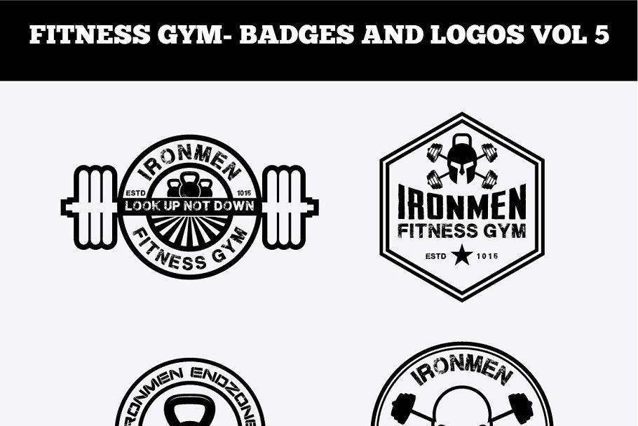 Fitness Gym Badges And Logos Vol4 Logo Bundle Gym Badges Badge Logo
