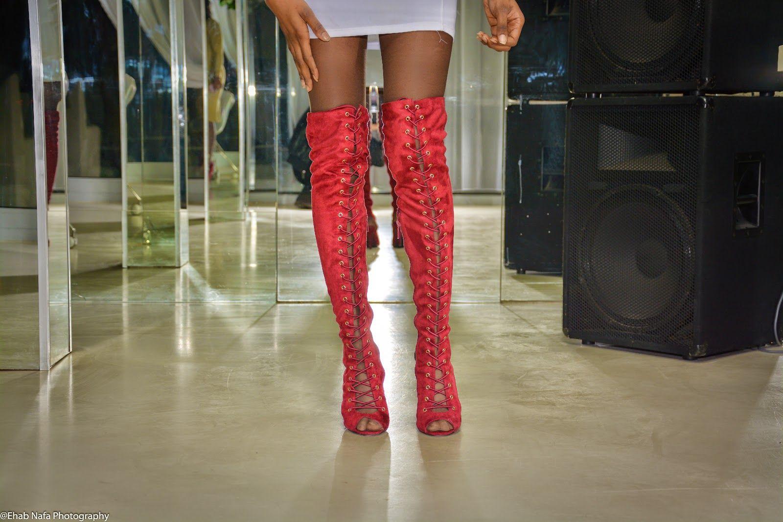 BIRTHDAY DINNER WITH DOUEBI ~ MÉLÒDÝ JACÒB'S #laceupboot #highkneelboots #kneelhighboots #boots #burgundy #longboots #inspirations #blogger #fashionblogger #white #party #now #shortdress