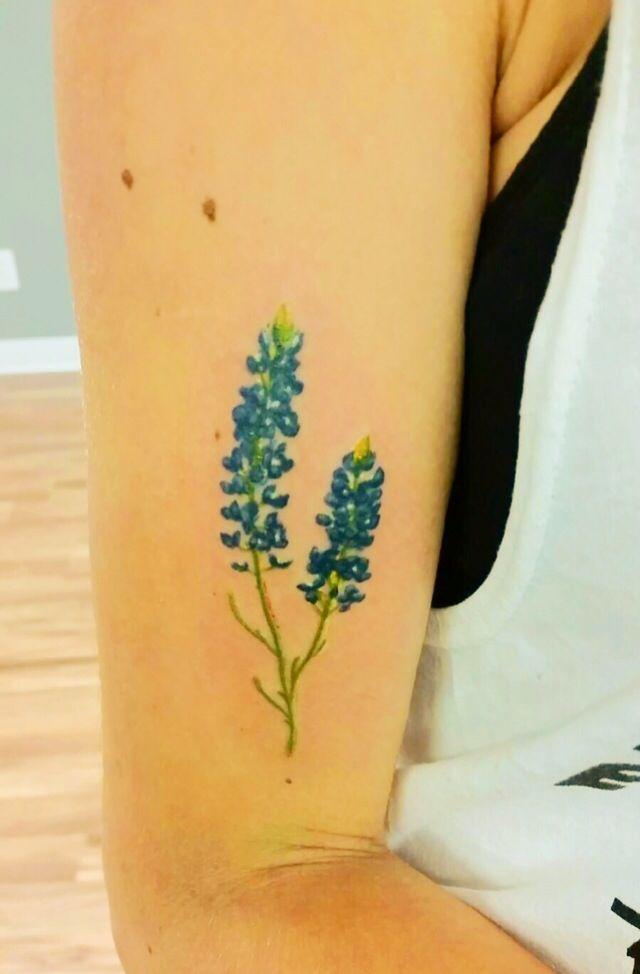 My beautiful Texas bluebonnet tattoo | Flower tattoos ...