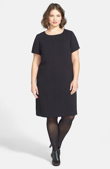 Eliza J Short Sleeve Sheath Dress (Plus Size) (Online Only ...