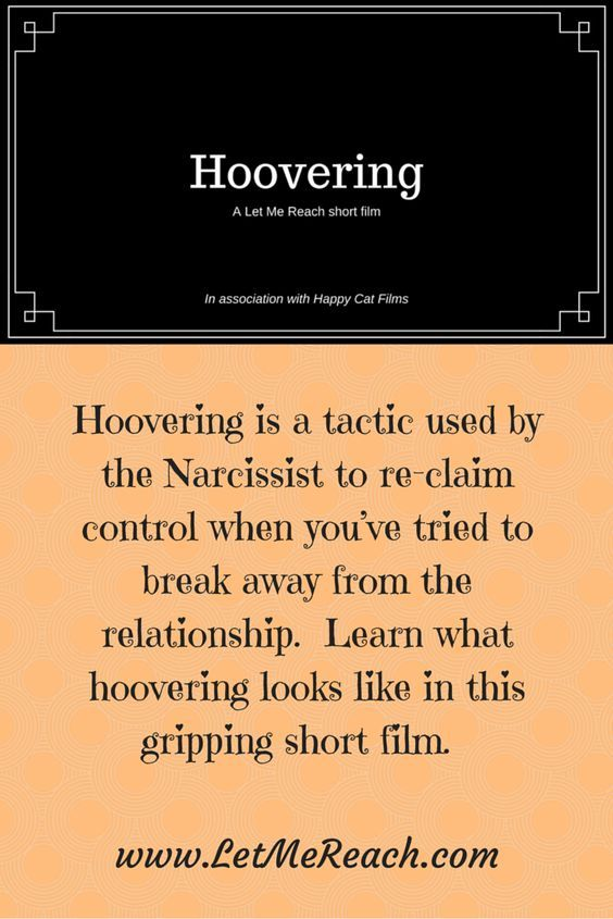 Narcissist hoovering techniques