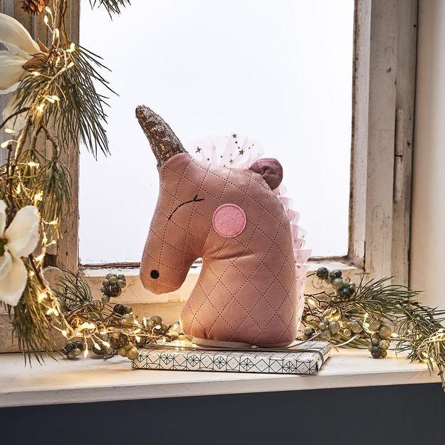 Türstopper Einhorn, 17x8x29cm, rosa Kinder zimmer