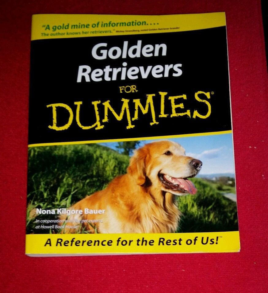 Golden retrievers for dummies by nona kilgore bauer 2000