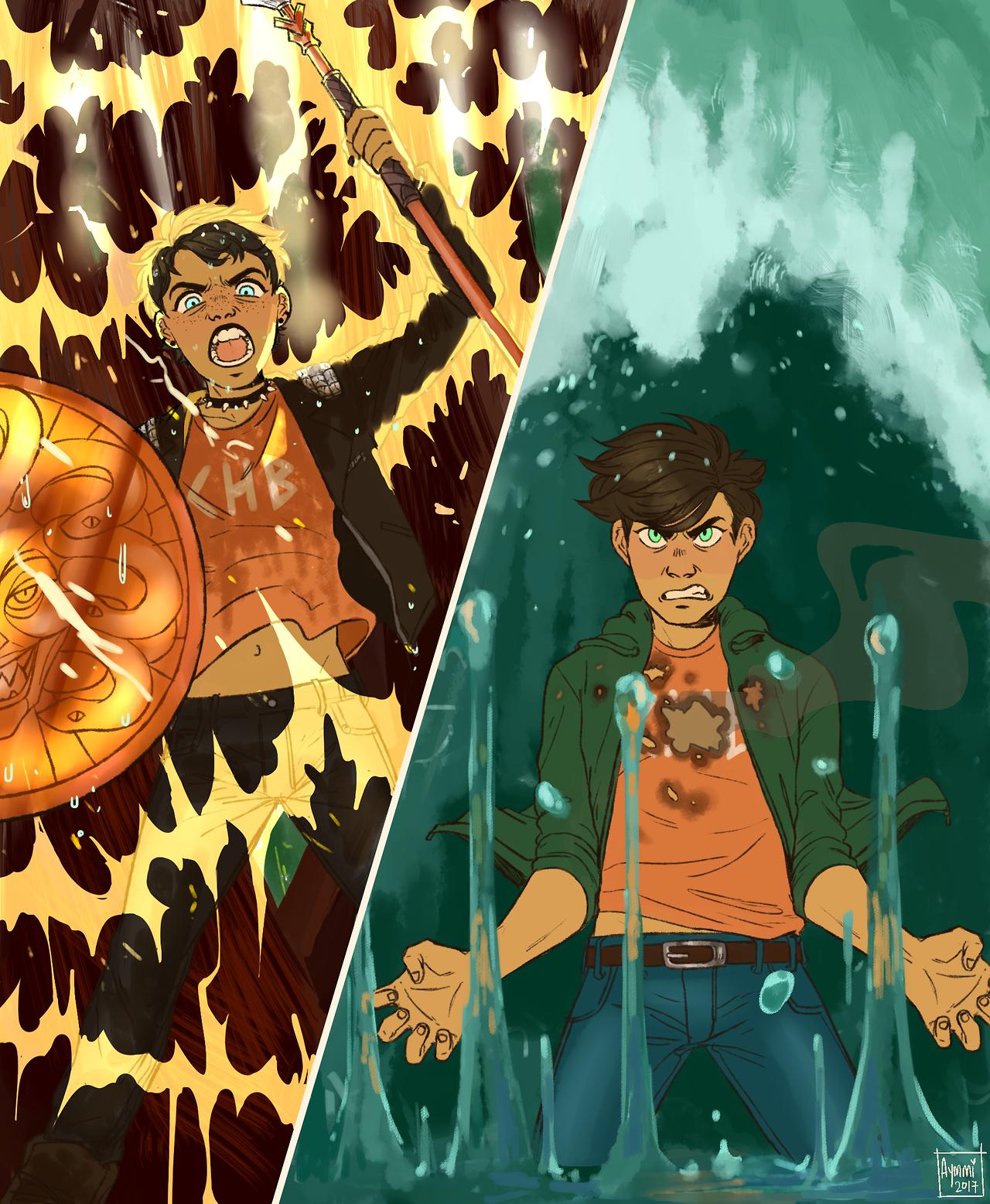 Thalia vs. Percy | Dibujos percy jackson, Libros de percy jackson ...