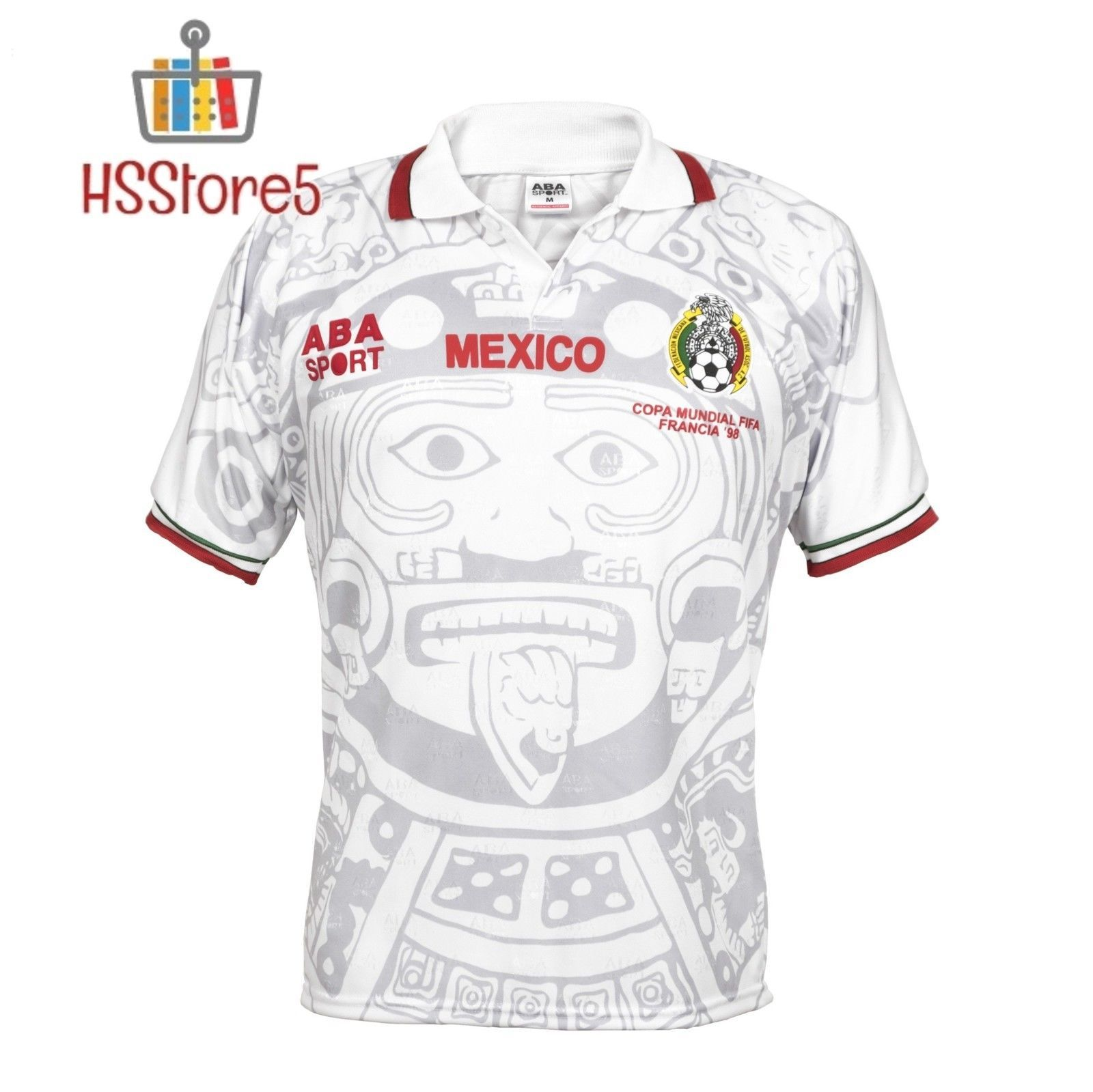 79f3130de15 ABA Sport Mexico Authentic 1998 World Cup Soccer Jersey