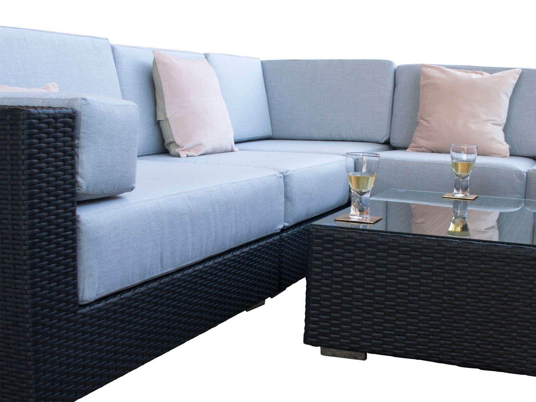 Tremendous Siena Black Rattan Garden Corner Sofa Set From Alexander Download Free Architecture Designs Aeocymadebymaigaardcom