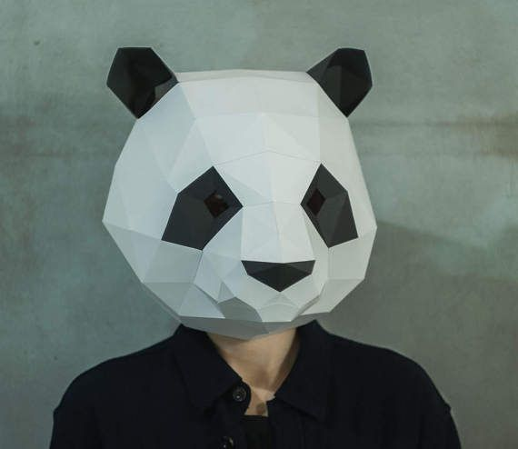 papercraft low poly papercraft papercraft pdf papercraft 3d diy papercraft PDF panda low poly Panda Papercraft gift DIY 3d pdf