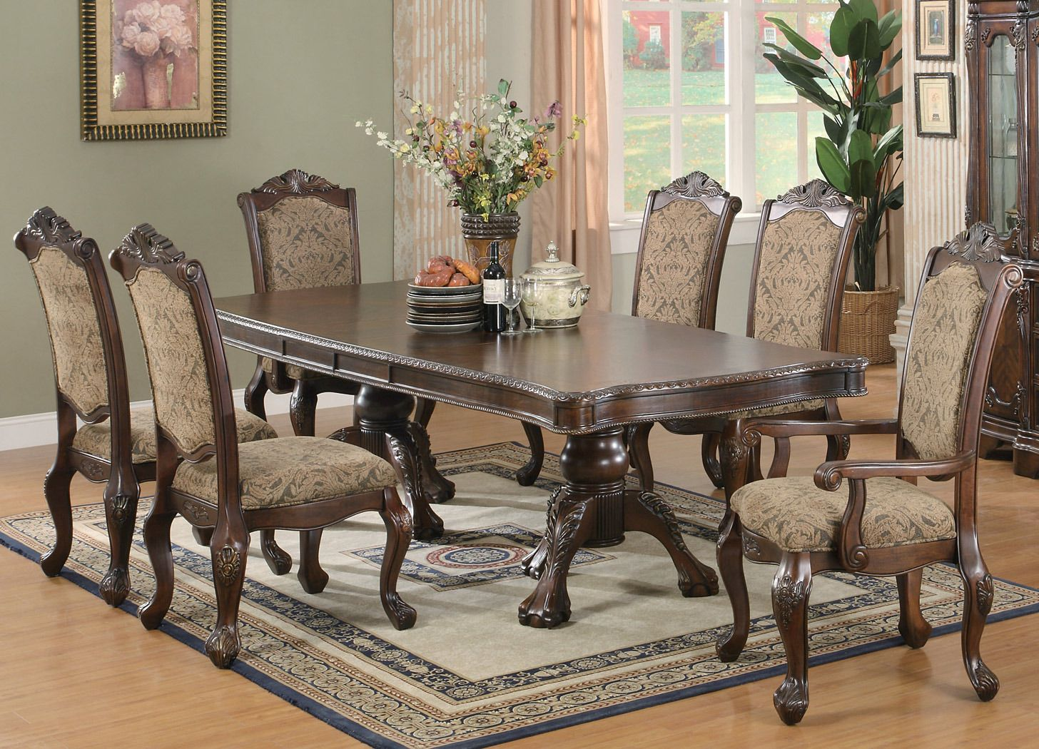 Outstanding Andrea Double Pedestal Table Dining Room Set Coaster Download Free Architecture Designs Xoliawazosbritishbridgeorg