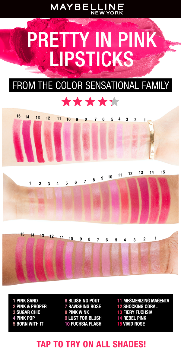 Photo of Pink Maybelline Lipsticks