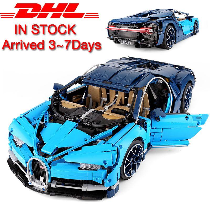 Best Chirstmas Gift Dhl Legoing 4031pcs Technic 42083 The Bugatti Chiron Racing Car Sets Model Building Block Brick Toys For Children Birthday Gift Lepin L