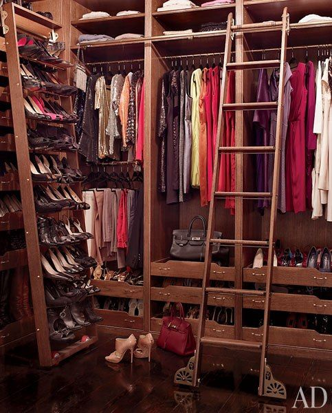 Actress Brooke Shieldsu0027s Closet At Her Greenwich Village Townhouse Was  Built Of Rift Sawn White