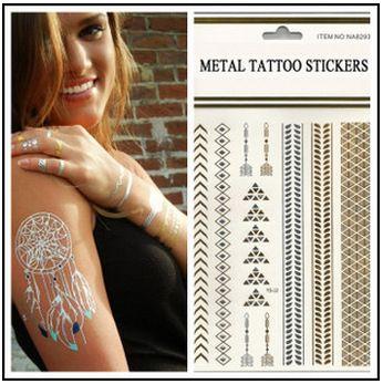 gold and silver tattoos tatoo temporary stickers body tattoo gold - http://www.aliexpress.com/item/gold-and-silver-tattoos-tatoo-temporary-stickers-body-tattoo-gold/32311567676.html