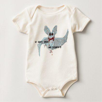 "LOLBATZ ""GOT KETCHUP"" Baby Jersey Baby Bodysuit - baby gifts child new born gift idea diy cyo special unique design"