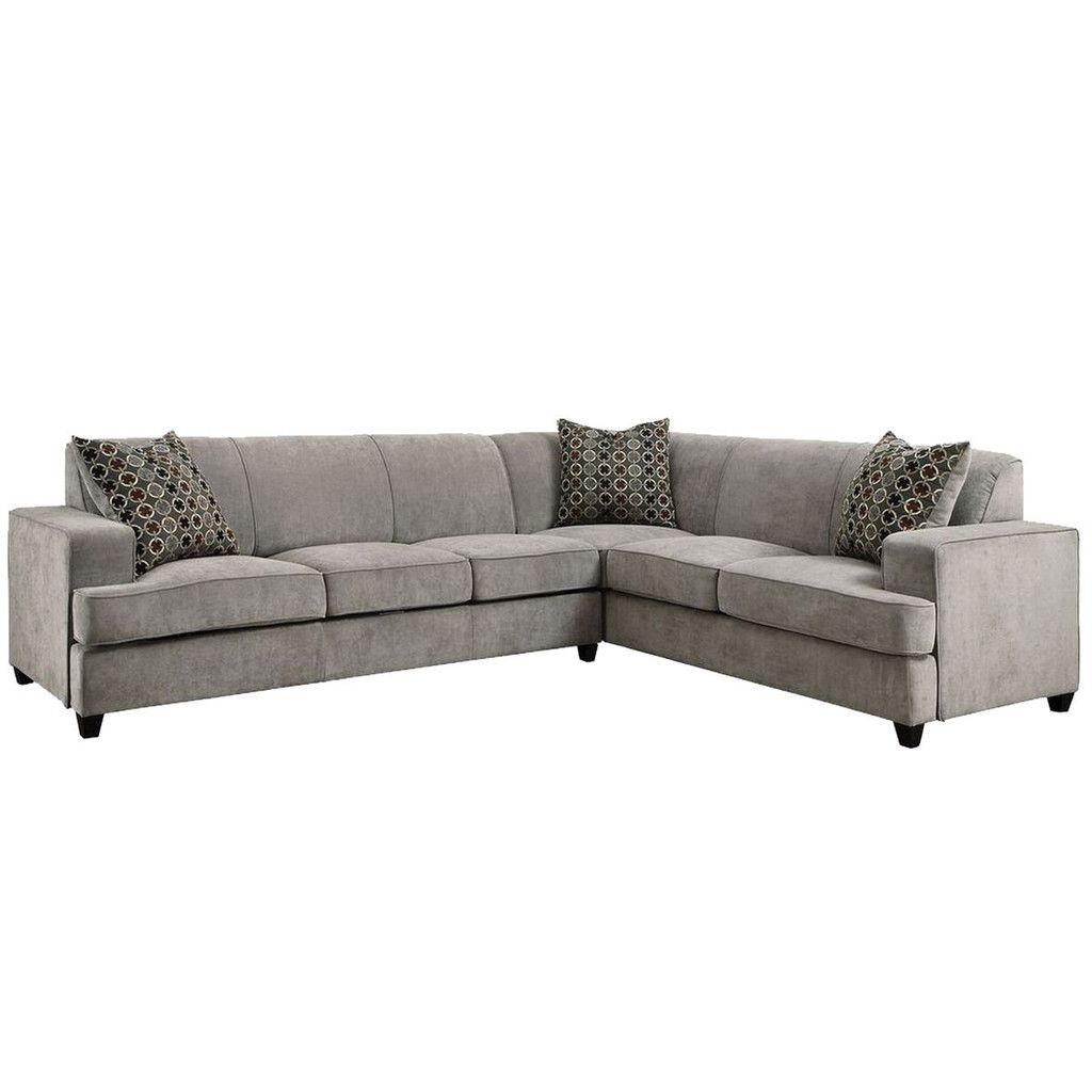 Tess 3 Pc Sleeper Sectional Sectional Sleeper Sofa Grey