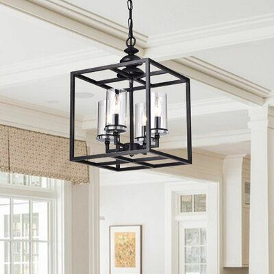 Cheverton 4 - Light Lantern Square Pendant | Joss & Main