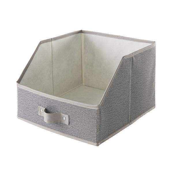 Polyester wipe-clean fabric with durable handle Cut-away front allows for quick easy view of your drawer contents Durable reinforced construction holds acces...