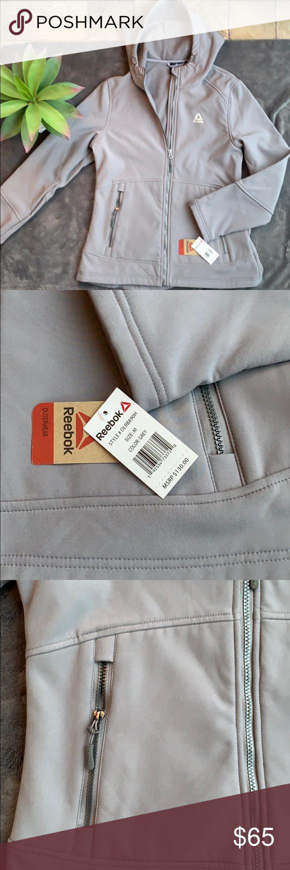 Nwt Reebok Outerwear Vintage Windbreaker Jacket Reebok Women Coats Jackets Women [ 1740 x 580 Pixel ]