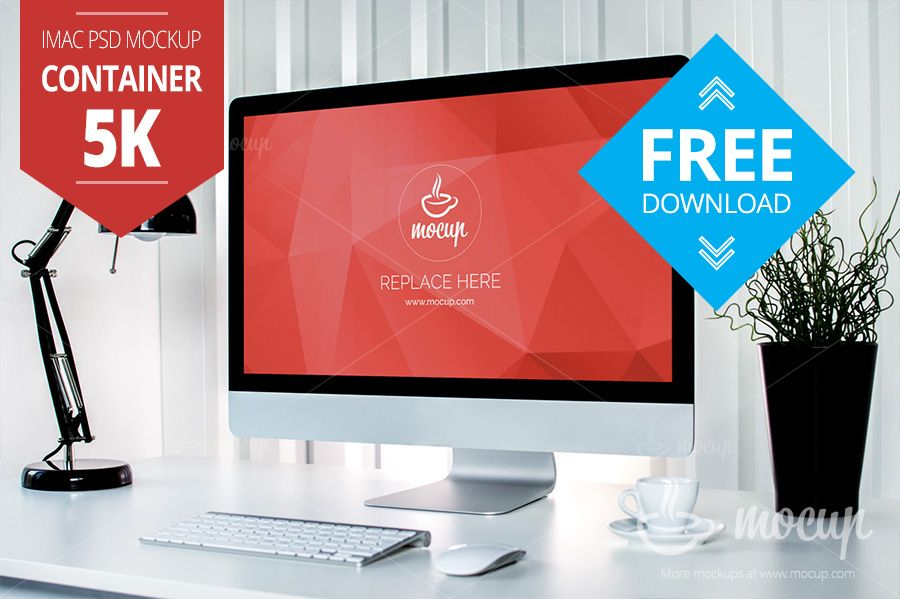 Free container 5k imac mockup 38 mb mockupdeals free container office photos with minimalistic and clean environment real photo psd mockup of the imac with retina display toneelgroepblik Gallery