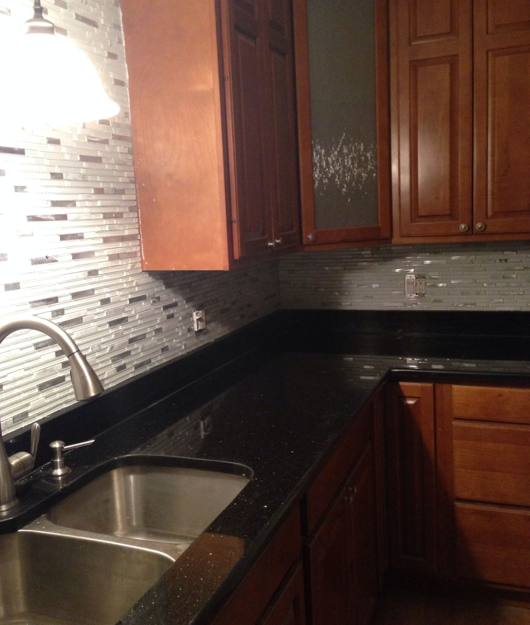 Kitchen Whitehorse Backsplash Black Granite Top With Gold Flakes Backsplash Black Granite Updated Kitchen Kitchen