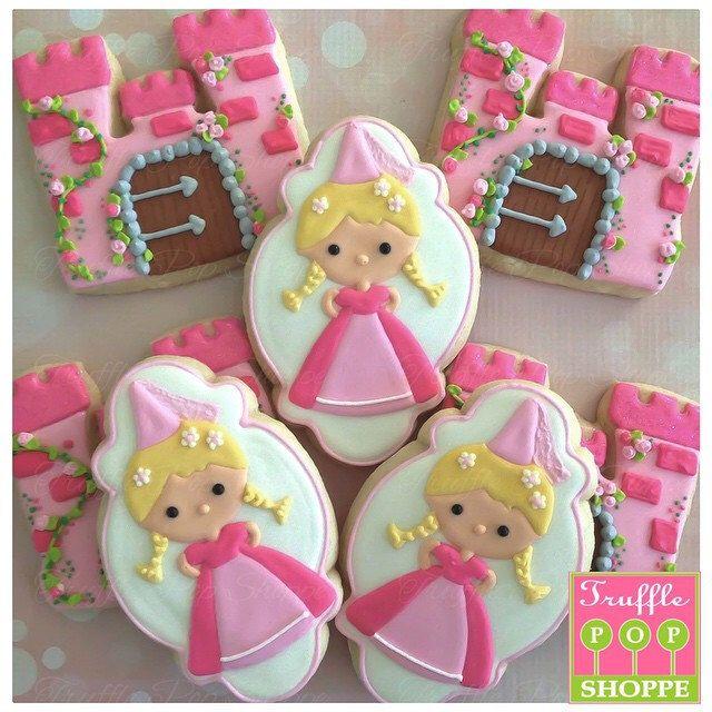 1 Dozen - Princess & Castle - Decorated Cookies by TrufflePopShoppe on Etsy https://www.etsy.com/listing/208026247/1-dozen-princess-castle-decorated