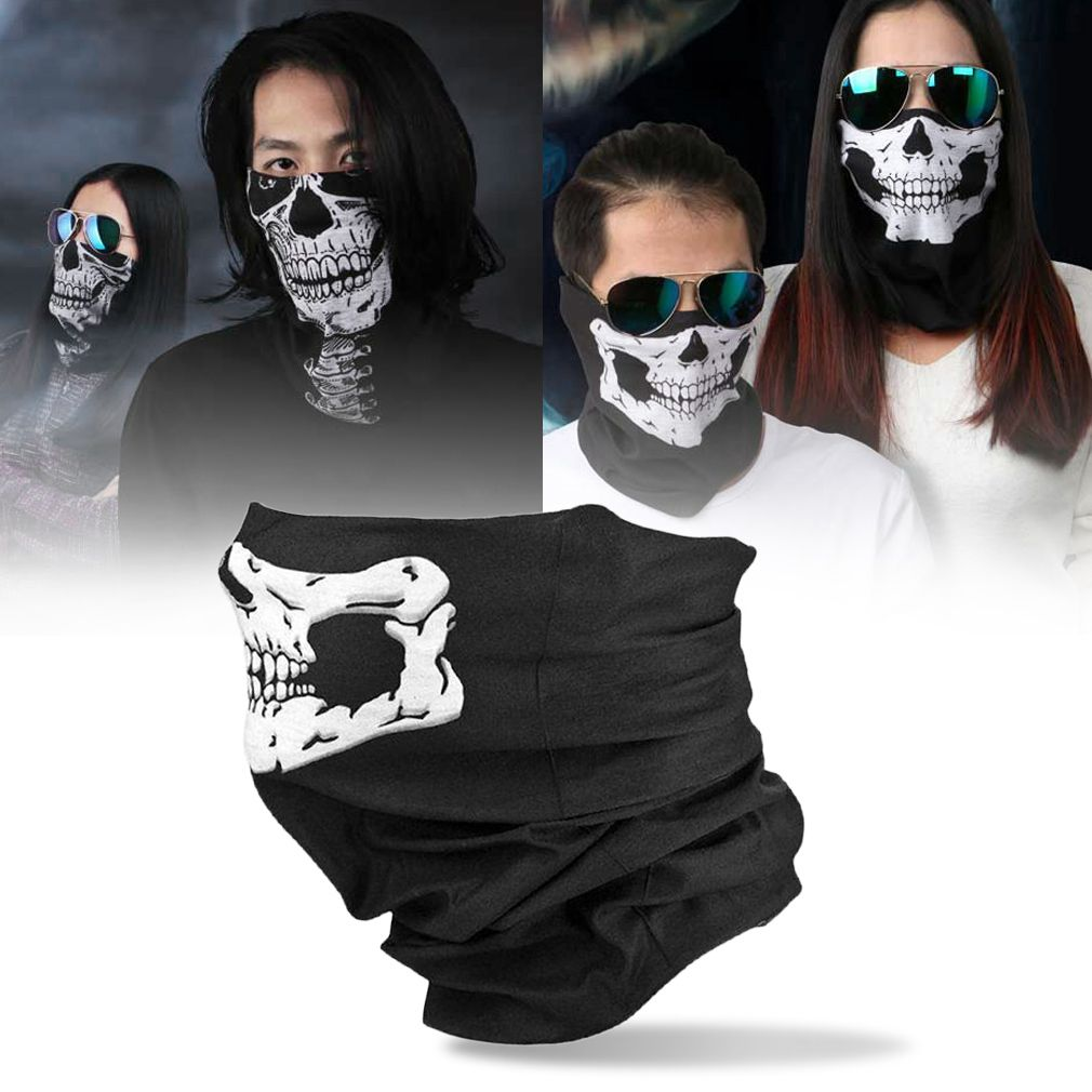 Motorcycle Skull Ghost Face Windproof Mask Outdoor Sports Warm Ski ...