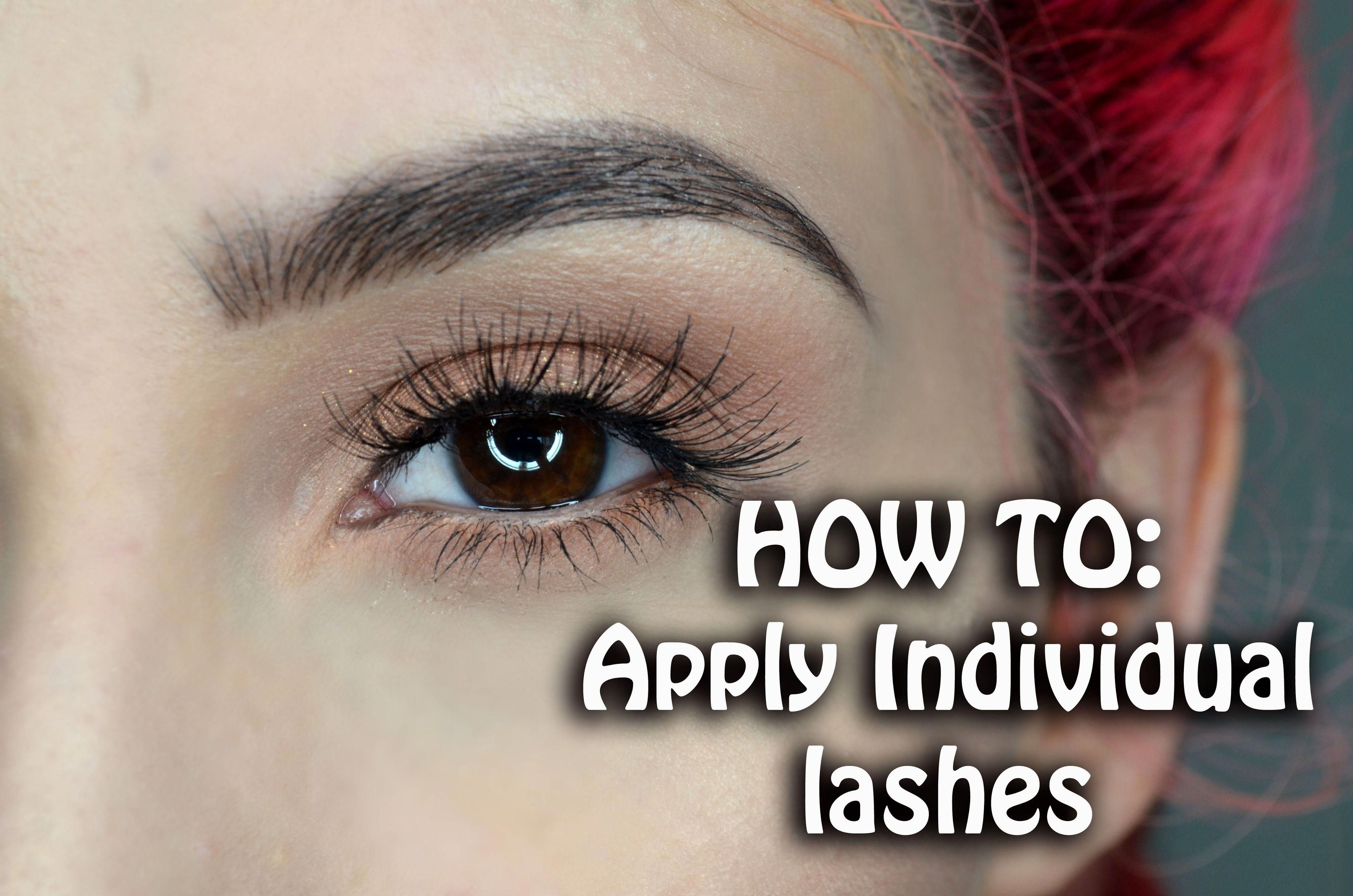 How To Apply Individual Lahes Ft Ardell Individual Lashes