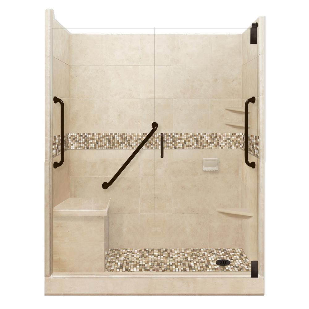 American Bath Factory Roma Freedom Grand Hinged 32 In X 60 In X
