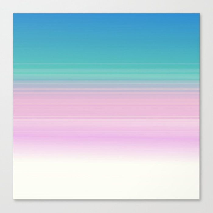 Miami Vice Pastel Ombre Canvas Print by Simply Chic By 2sweet4words Designs - Medium