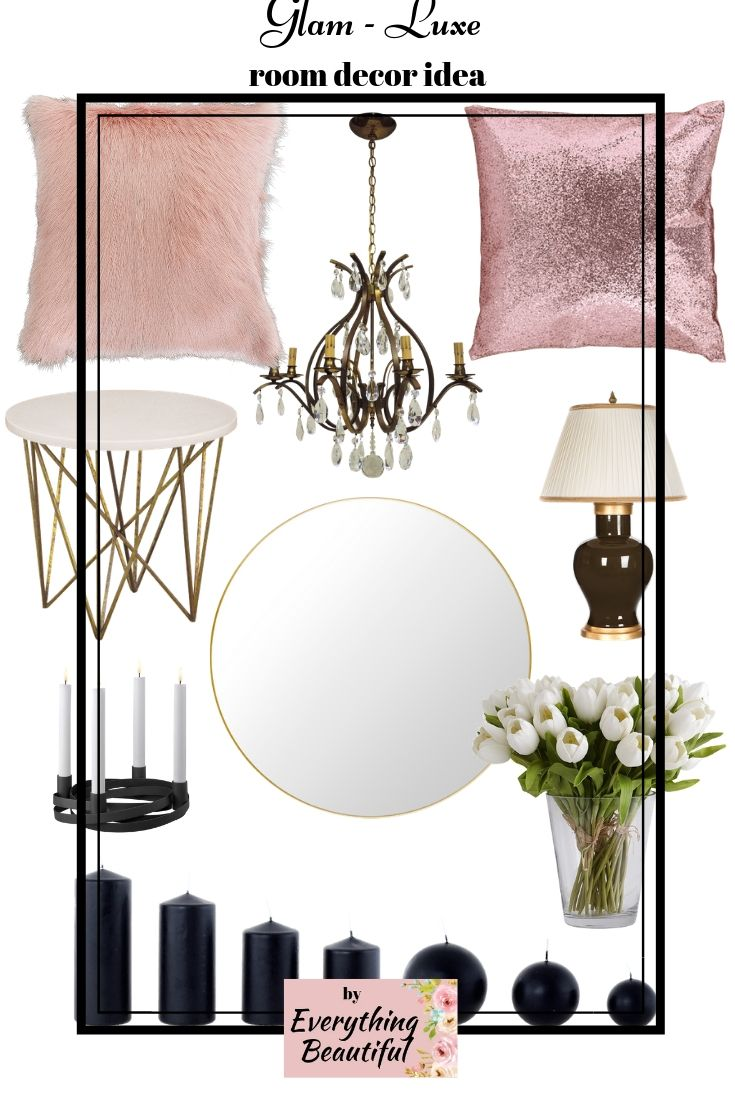 I found this glam room decor on Amazon. All the
