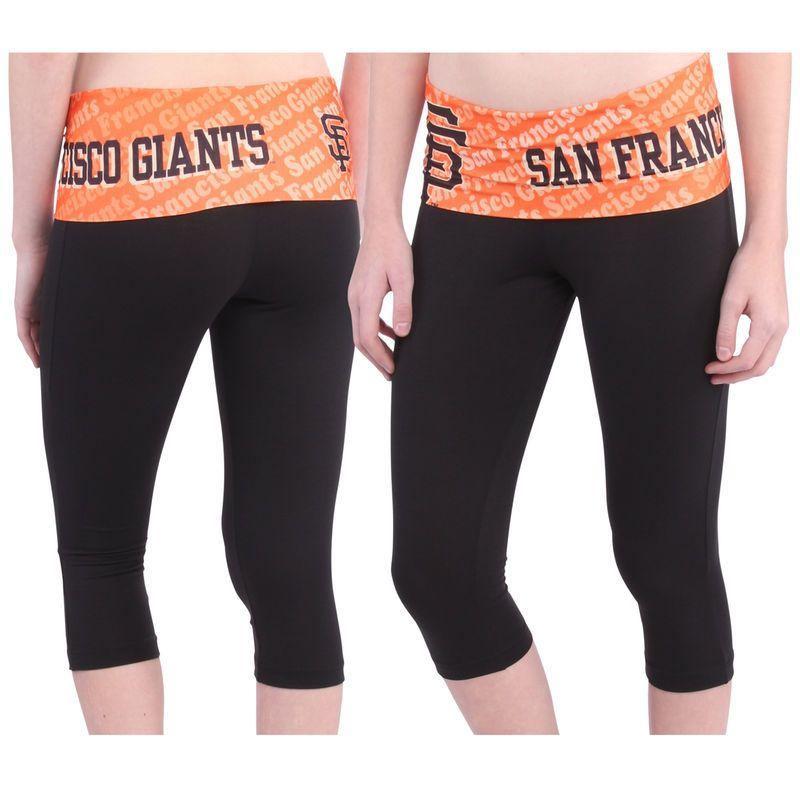 8232176c San Francisco Giants Women's Cameo Knit Capri Pants - Black in 2019 ...