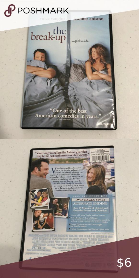 The Break Up Pg 13 Dvd Breakup Dvd American Comedy