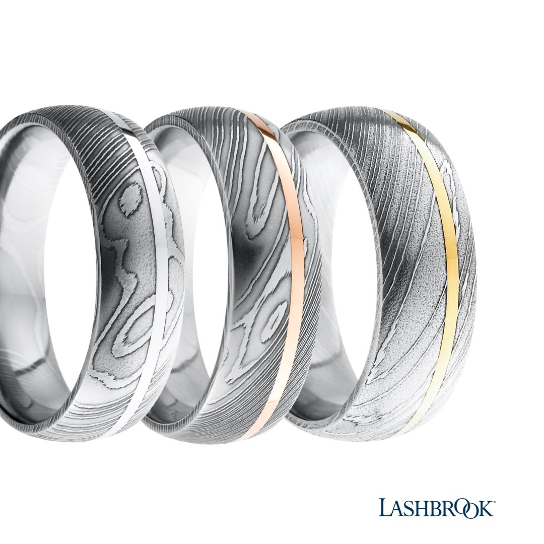 Check Out These Damascus Steel Wedding Bands Each Style Is Unique Due To The Way It S For Damascus Steel Wedding Band Mens Wedding Rings Classic Wedding Rings