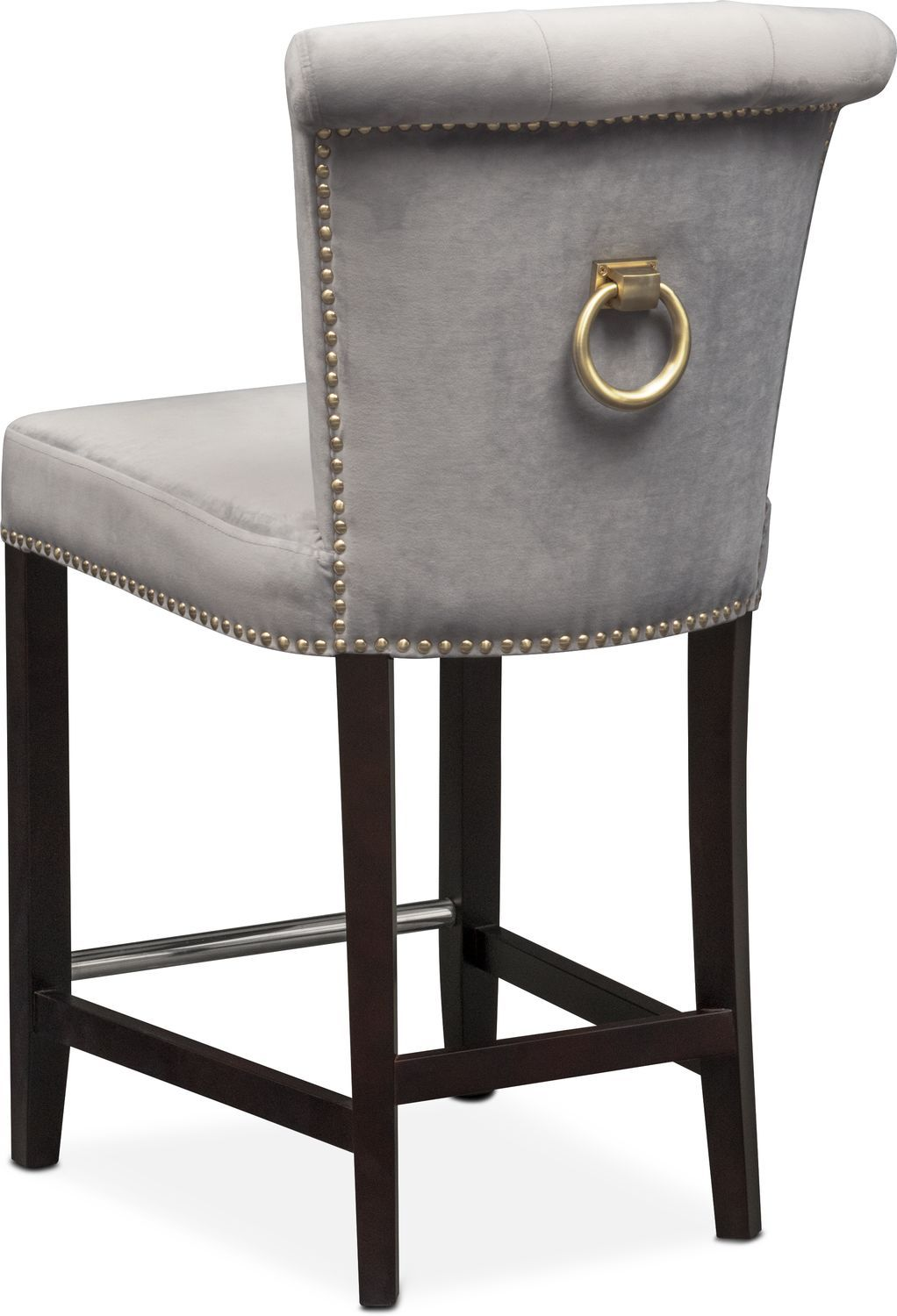 Put A Ring On It Outfit Your Dining Ensemble With The Polished Look Of The Calloway Counter Height Dining Room Tables Farmhouse Chairs Brown Living Room Decor