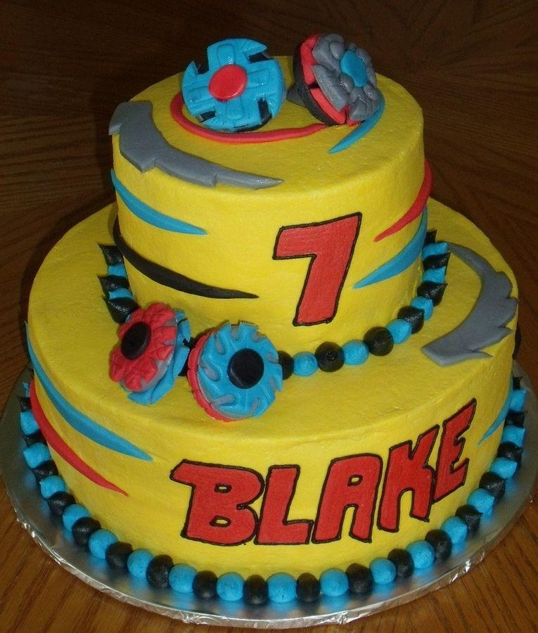 Beyblade birthday cake   Party Ideas   Birthday, 7th birthday cakes ...
