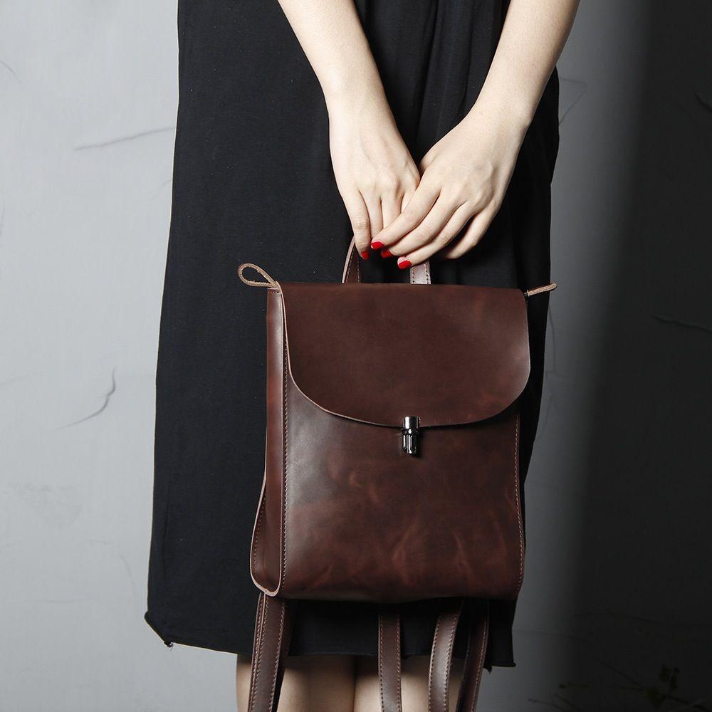 MoshiLeatherBag - Handmade Leather Bag Manufacturer — Handmade Full Grain Leather  Backpack Women Backpack SCY08 888693b90e716
