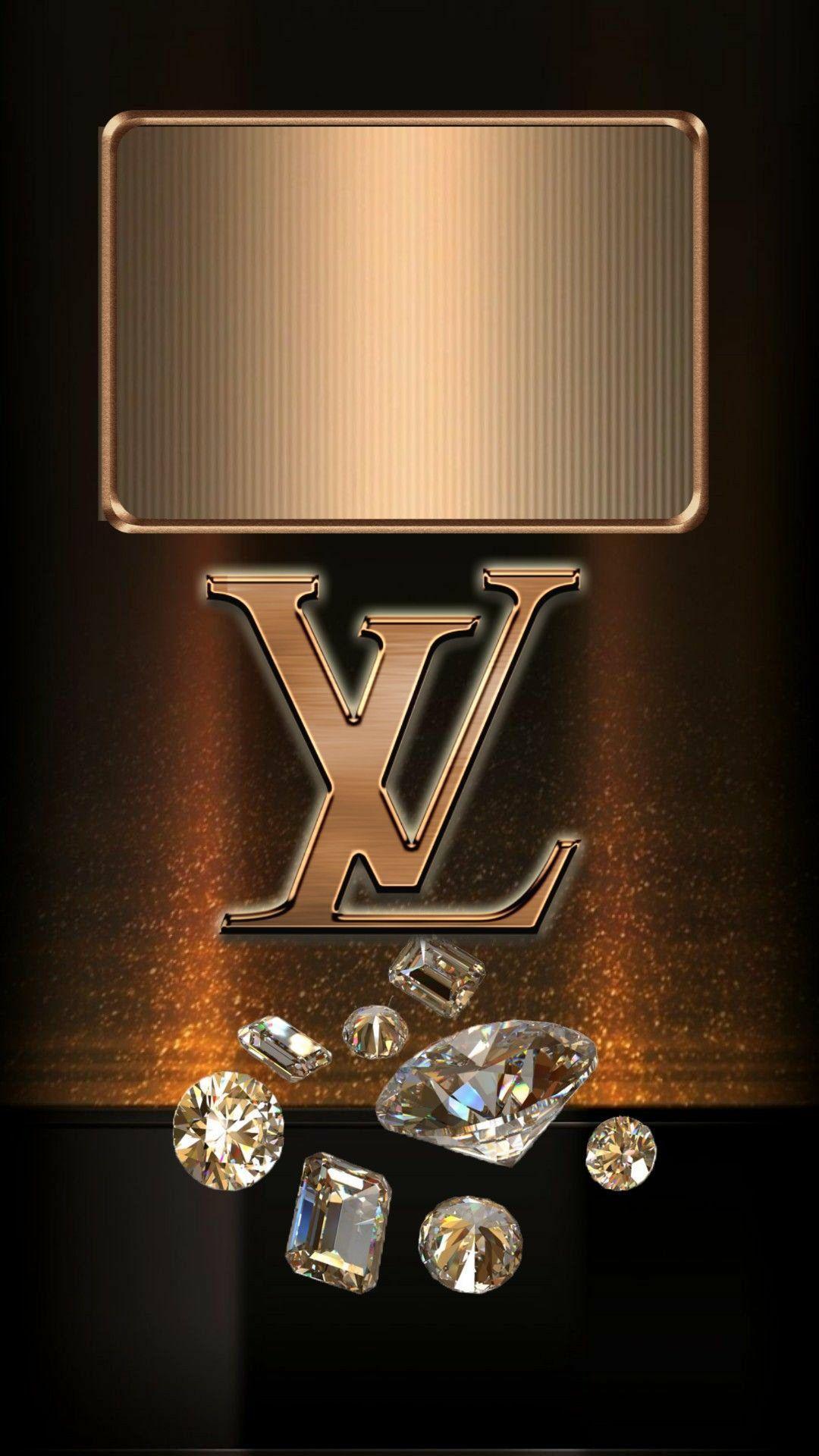 Louis Vuitton rose gold wallpaper -