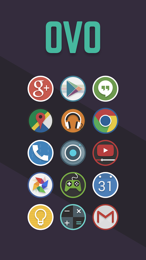 Apk for Android Ovo Icon Pack 4.2.3 apk Icon pack, Icon