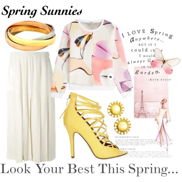 Spring Into Style by mstese on Polyvore featuring Kenzo, Chanel, SPURR and Elie Saab