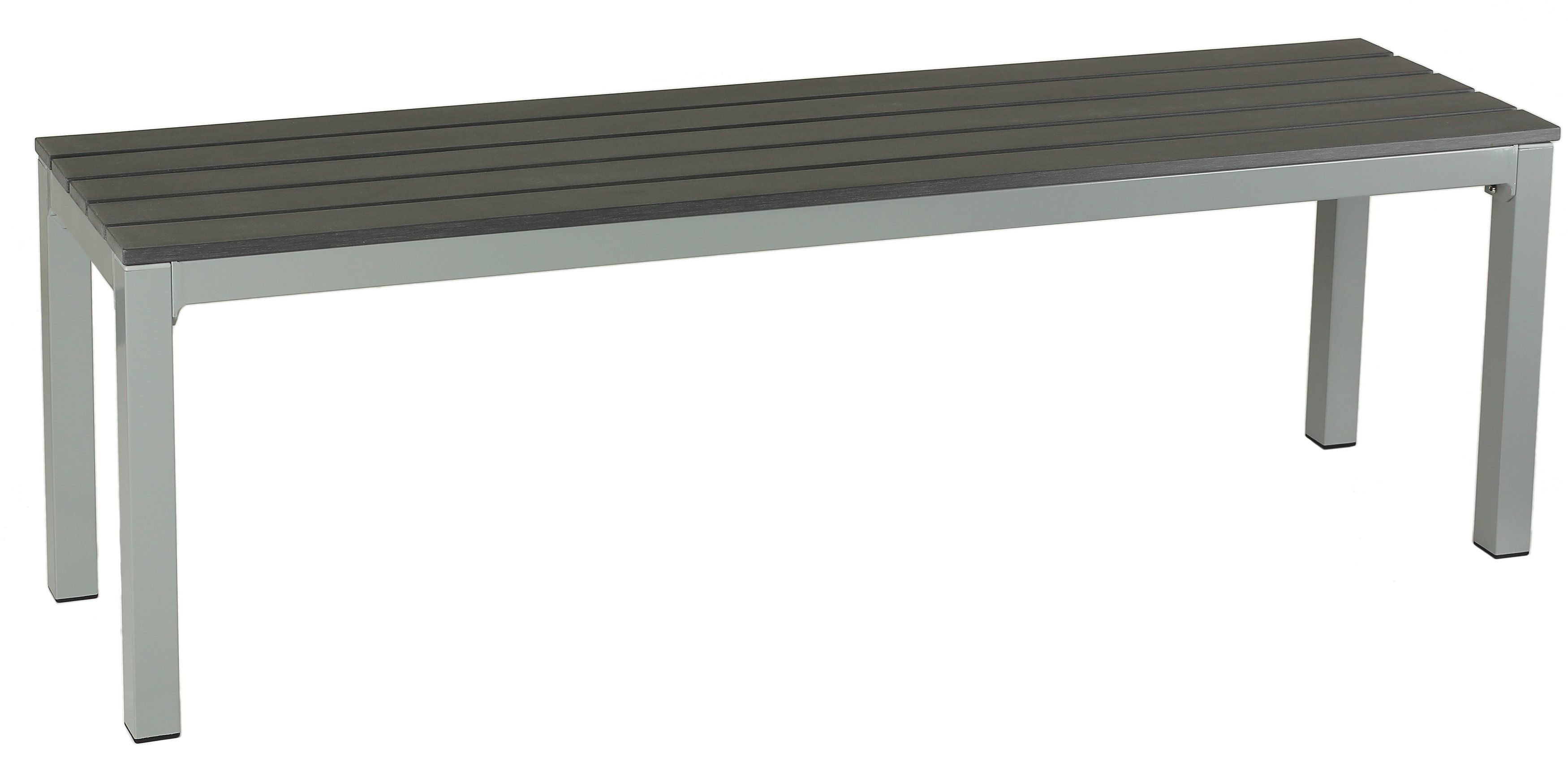 Cortesi Home Jaxon Large Aluminum Outdoor Bench In Poly Resin,