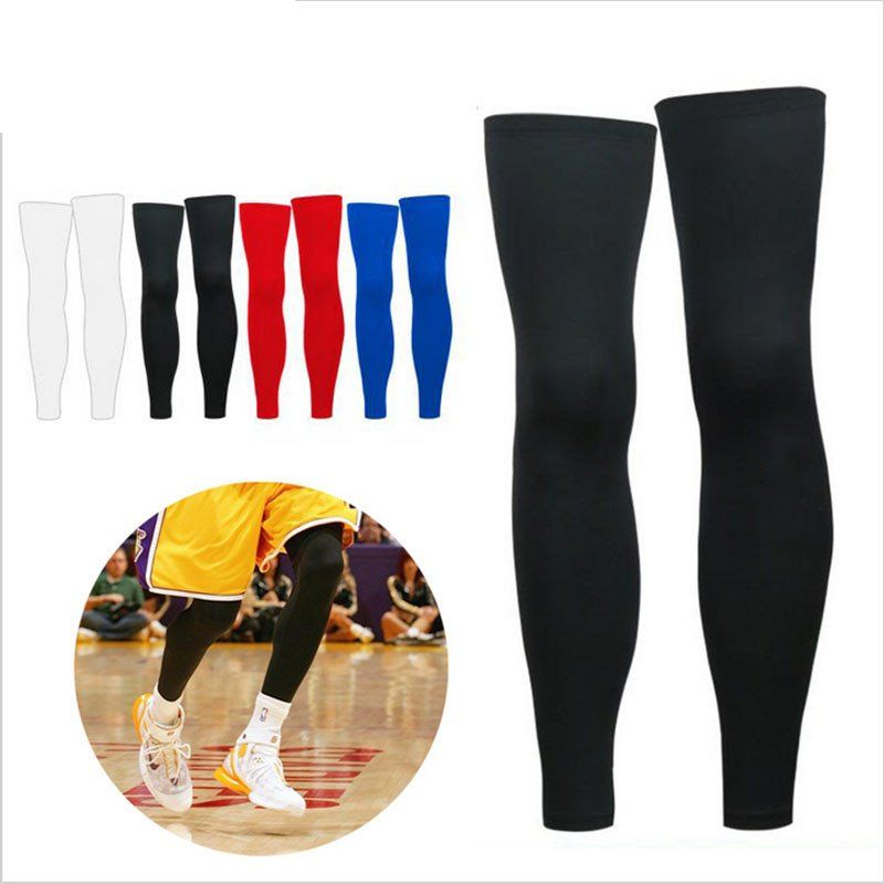 c35e167aa4 1PCS Super Elastic Lycra Basketball Knee Pad Support Brace Football Leg  Calf Thigh Compression Sleeve Sports Safety HX001
