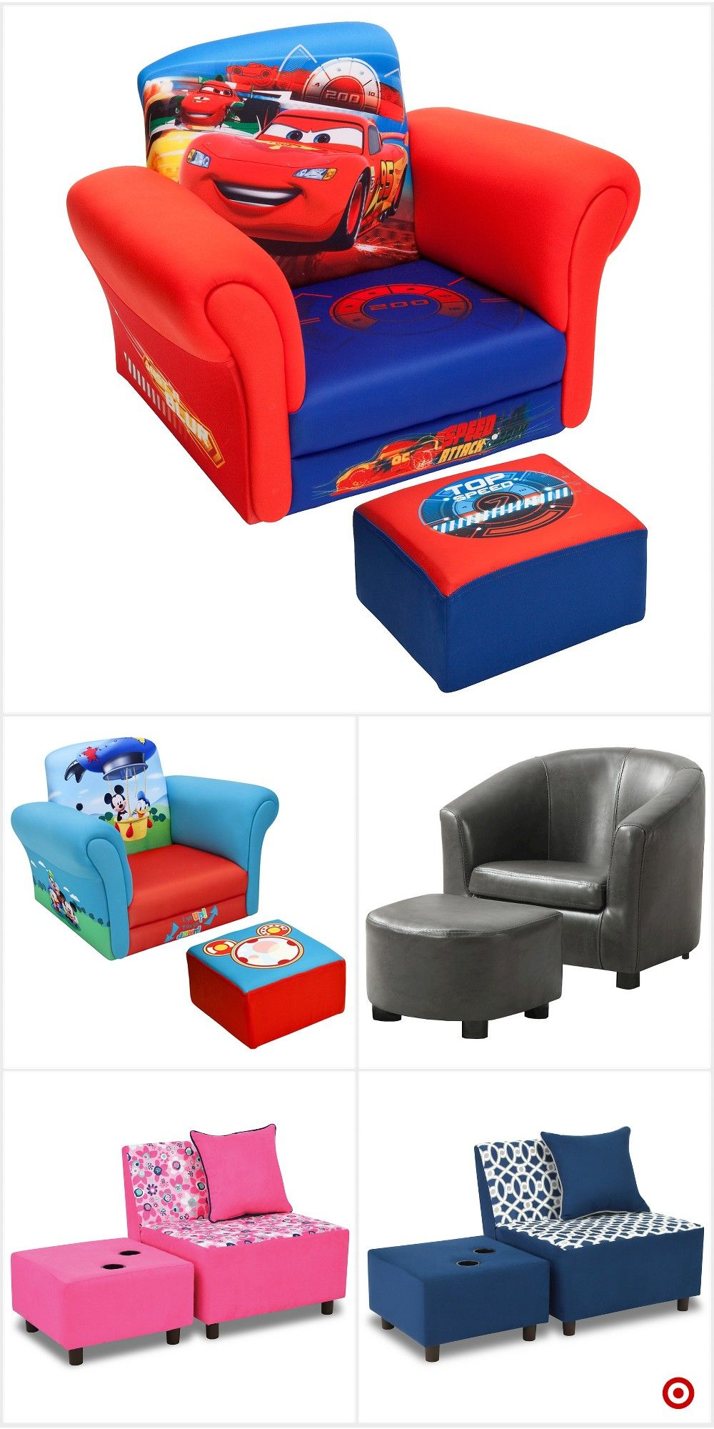 Shop Target for kids upholstered chair and ottoman set you
