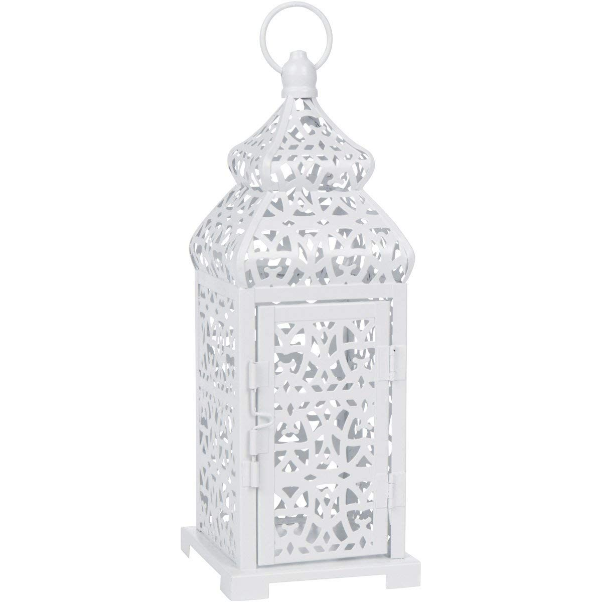 White Temple Moroccan Style Candle Lantern