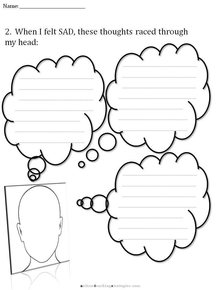 Cbt Childrens Emotion Worksheet Series 7 Worksheets For Dealing