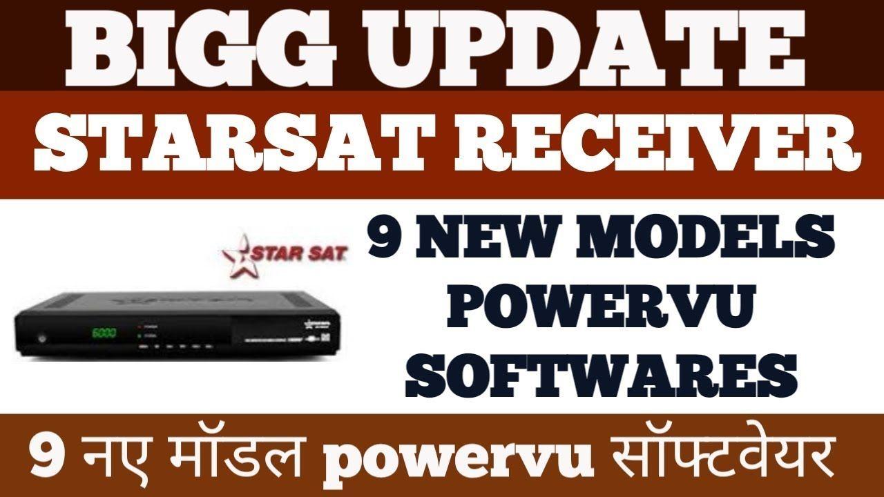 BIGG UPDATE STARSAT RECEIVER 9 NEW MODELS POWERVU SOFTWARES ALL NEW