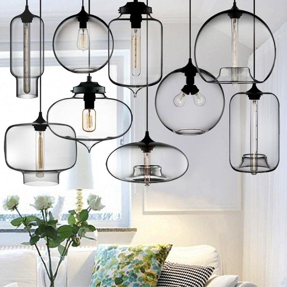Led Incadescent Energy Saving Multiple Colored Glass Pendant Lamp Glass Blown Pendant Light E27 Light So Plafonniers Suspendus Luminaire Plafond Lampe En Verre