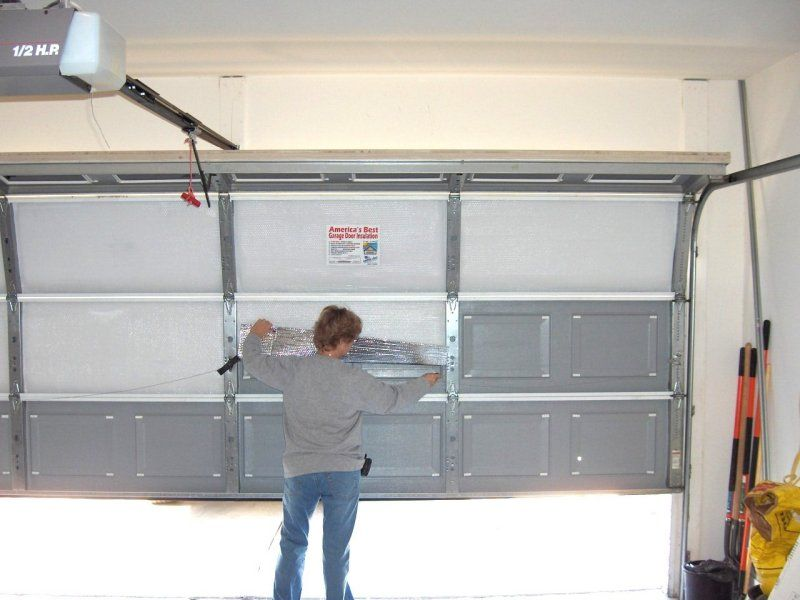 Garage Door Insulation Reflective Insulation Or Foam Boards Garage Door Installation Garage Door Insulation Garage Insulation
