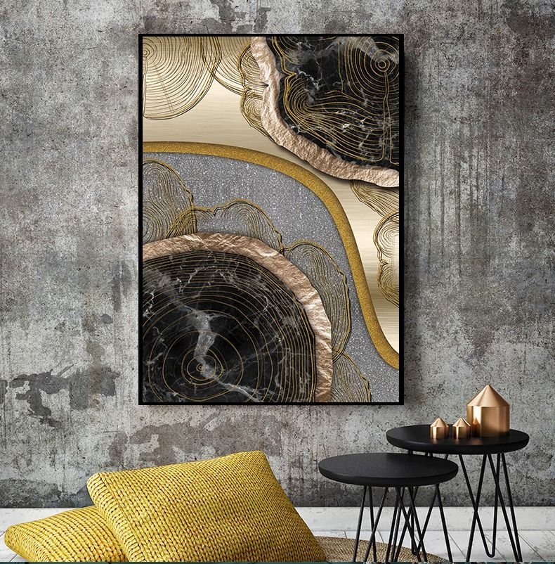 Abstract Golden Treasure Scandinavian Wall Art Hd Scandinavian Wall Art Abstract Metal Wall Art Abstract Canvas Wall Art