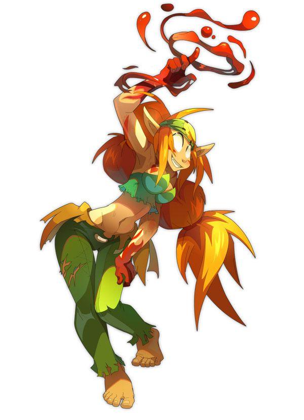 Wakfu Anime Character Design : Sacrier female the art of wakfu pinterest character