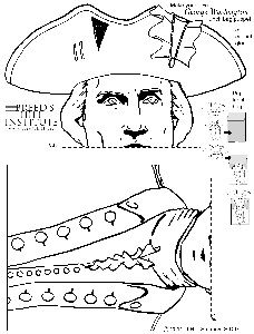 George Washington paper bag puppet printable