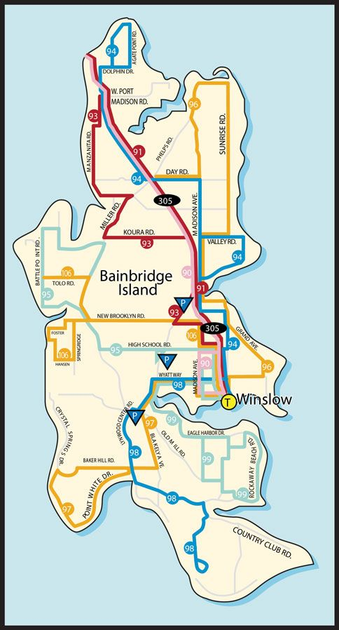 Bainbridge Island Route Map | Travel in 2019 | Bainbridge